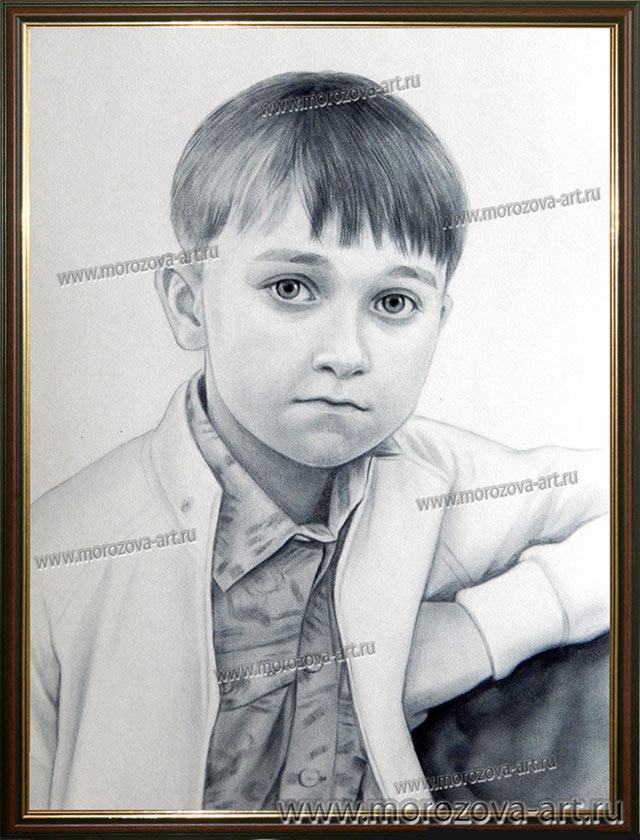 Портрет рисованный маслом