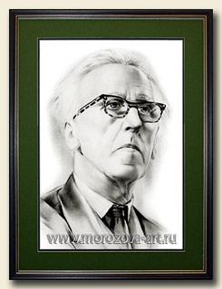 Заказать графический портрет композитора Дмитрия Кабалевского