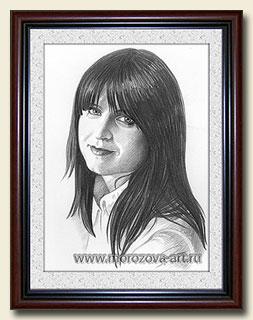 Маша Царёва, портрет карандашом.
