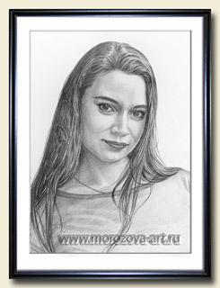 Фотореалистичный портрет молодой женщины, хлопковая бумага, портреты карандашом на заказ