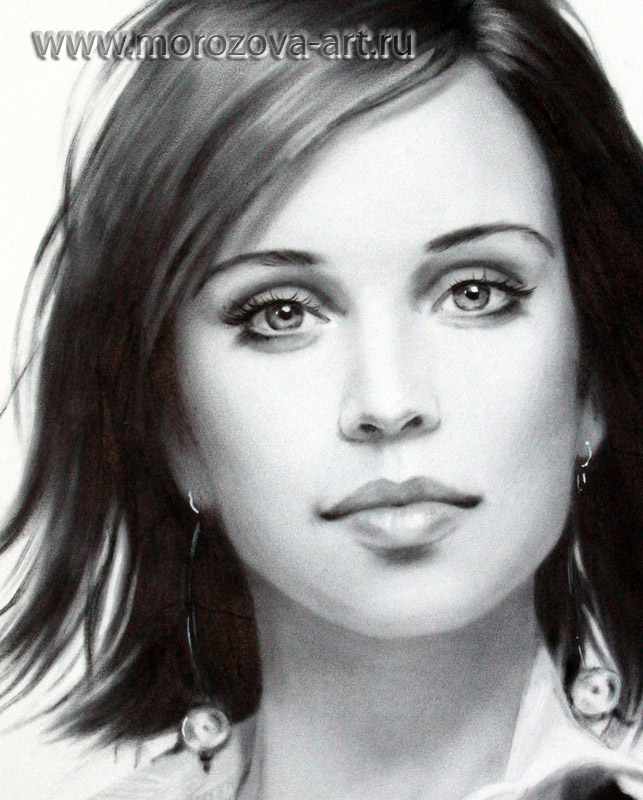 Фрагмент женского портрета сухая