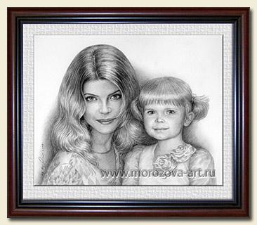 Заказать портрет карандашом в стиле фотореализм по фото.