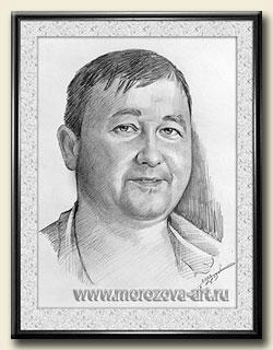 Мужской Портрет карандашом по фото и с натуры.
