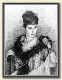 Портрет современницы в историческом костюме