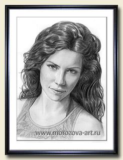 Гиперреалистичный портрет Эванджелин Лилли (Evangeline Lilly) карандашом