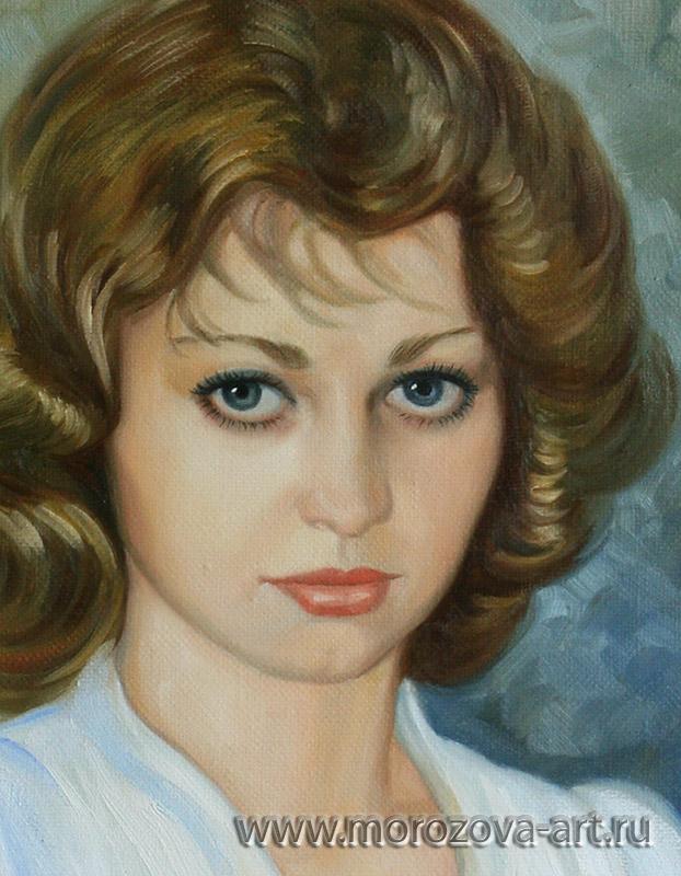 портреты девушек красками: