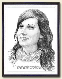 Рамка для рисованных портретов