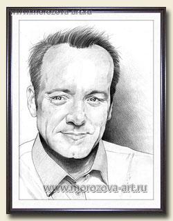Карандашный портрет мужчины по фото на заказ