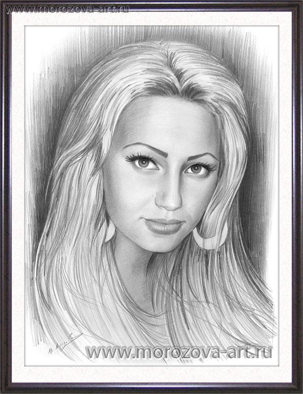 Портрет девушки выполненный в стиле