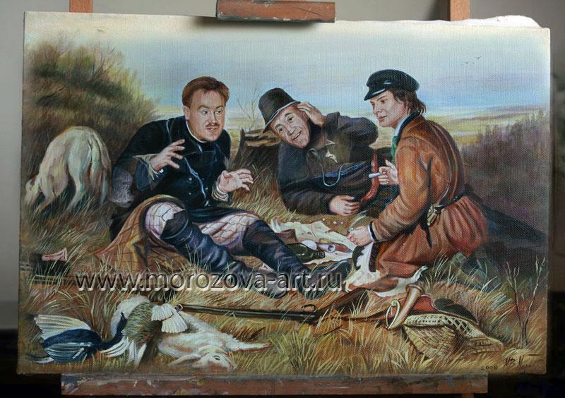 рыбаки на привале картина перова