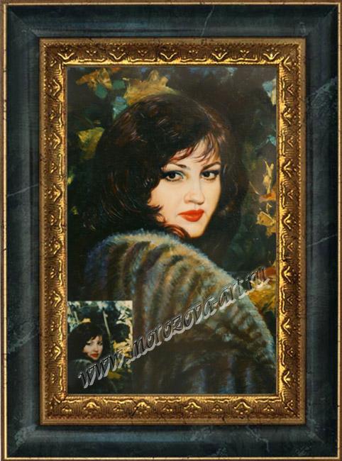 Портрет дамы в шубке женские портреты